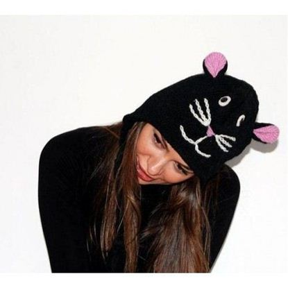 Picture of Pink Yak Black Cat Hat