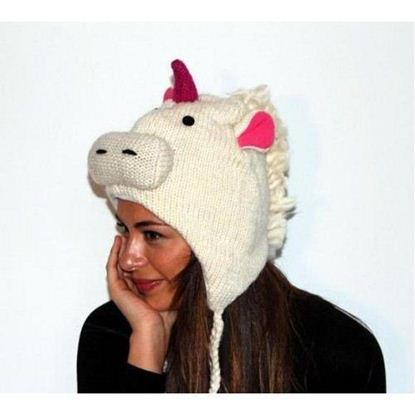 Picture of PInk Yak Unicorn Hat