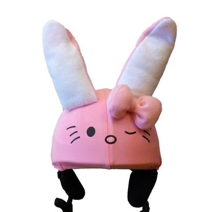 Kitty Bunny pink helmet cover