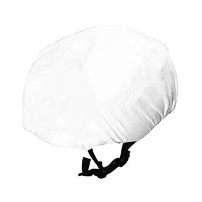 White Waterproof cycling helmet cover