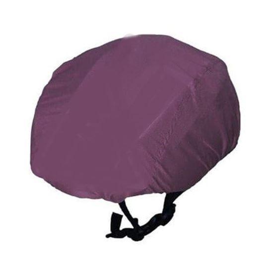 Mauve Waterproof cycling helmet cover