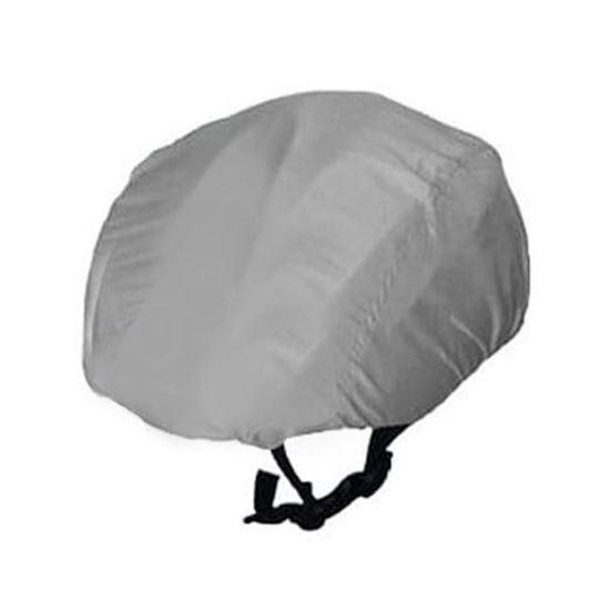 Grey Waterproof cycling helmet cover