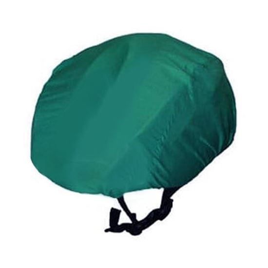 Waterproof Cycling Helmet Cover Bike Rain Cover reflective turquoise