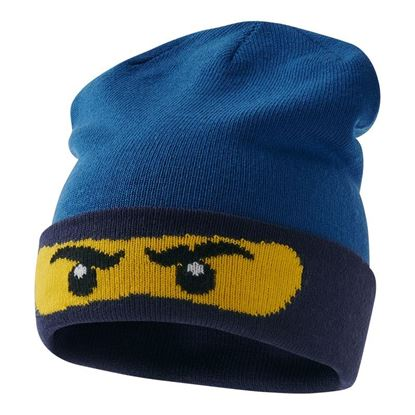 Lego wear Blue Knitted Hat with Lego Ninjago Ninja eyes design