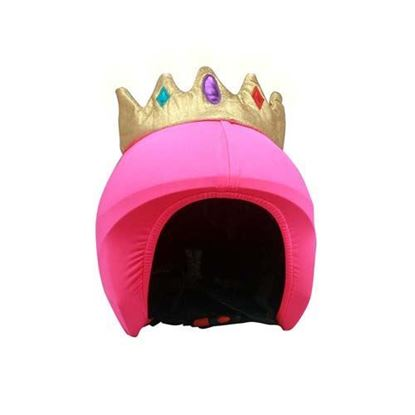 Coolcasc - Queen/Princess helme cover, pink LED lights