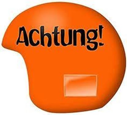 AChtung! Bright orange Helmet cover