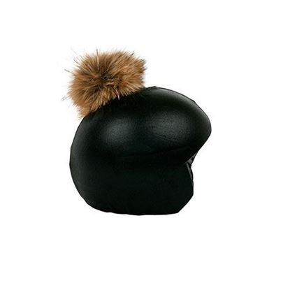 Coolcasc Pom Pom Black/Brown Helmet Cover