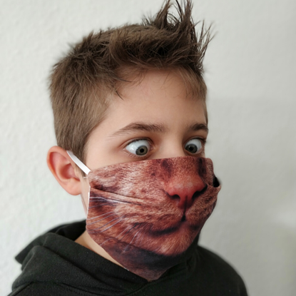 Evercover - CUTE KITTY REALISTIC CAT FACE MASK - CHILD