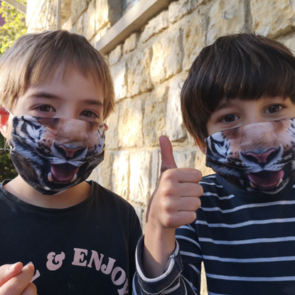 Evercover - TIGER- REALISTIC FACE MASK - CHILD