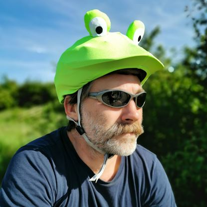 Coolcasc - Frog helmet cover