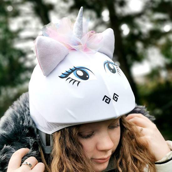 Evercover - Rainbow unicorn helmet cover