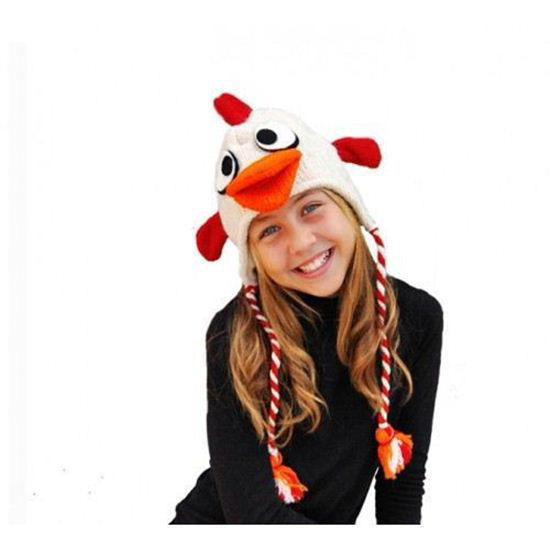Picture of Pink Yak Rooster Hat