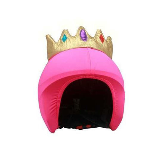 Coolcasc - Queen/Princess helme cover, pink LED lights girl wearing