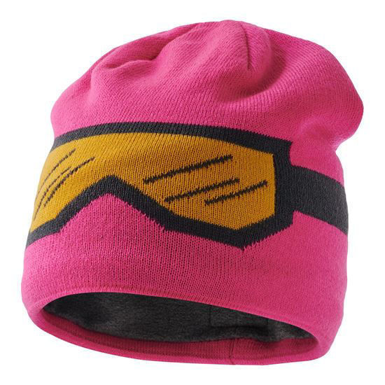 Lego Wear Dark Pink knitted hat with goggle design