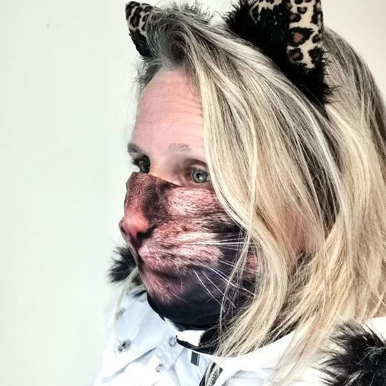 Evercover - CUTE KITTY REALISTIC CAT FACE MASK
