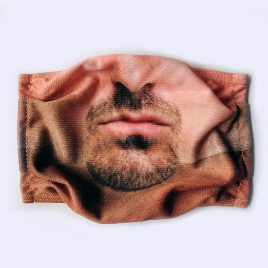 Evercover - WHITE MAN REALISTIC FACE MASK COVER FRONT