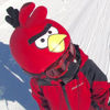Evercover - Funky Bird Red