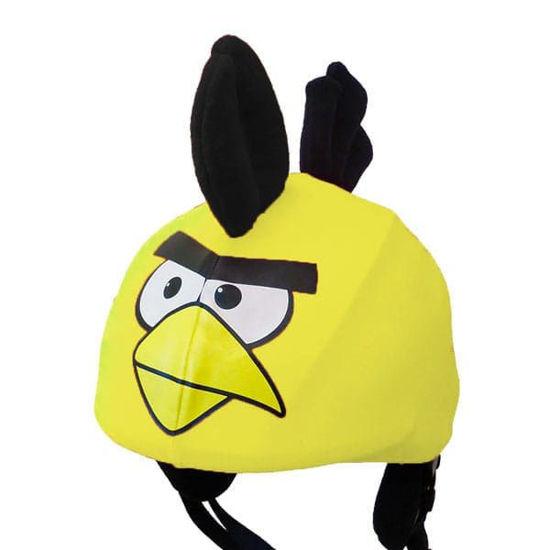 Yellow Funky Bird Helmet Cover