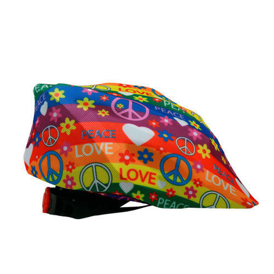 The Peace & Flowers cycling helmet